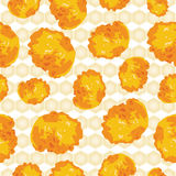 Cornflakes background seamless scattered Royalty Free Stock Photo