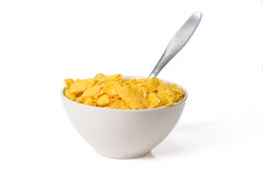 Cornflakes in bowl Stock Image