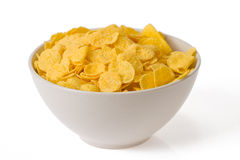 Cornflakes in bowl royalty free stock images