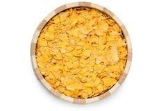 Cornflakes in bowl royalty free stock photography