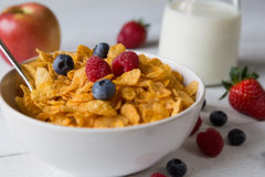 Cornflakes in a bowl Royalty Free Stock Photo