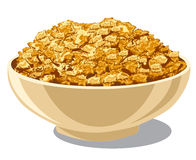 Cornflakes in bowl Royalty Free Stock Photo