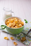 Cornflakes in bowl Stock Photography