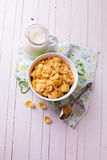 Cornflakes in bowl Royalty Free Stock Image