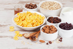 Cornflakes and breakfast cereals Stock Image