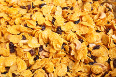 Cornflakes and caramel. Stock Image