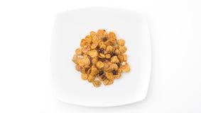Cornflakes and caramel Stock Photo