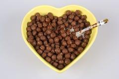 Cornflakes With Chocolate Stock Photo
