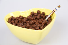Cornflakes With Chocolate Royalty Free Stock Photography