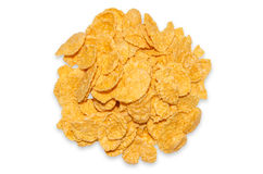 Cornflakes. Closeup on a white background Stock Images