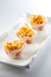 Cornflakes Cookie. With simple table setup Stock Image