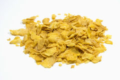 Cornflakes. Corn flakes, or cornflakes, are a popular breakfast cereal made by toasting flakes of corn Royalty Free Stock Photo
