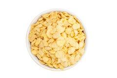 Cornflakes de céréale dans une cuvette Image stock