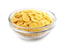 Cornflakes in de kop Stock Foto's