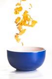 Cornflakes die op wit worden geïsoleerdn Royalty-vrije Stock Foto