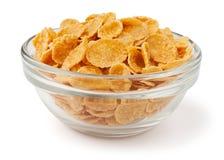 Cornflakes in een kom Stock Foto