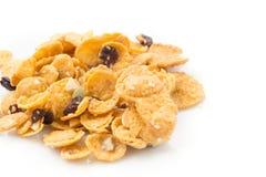 Cornflakes en karamel Stock Afbeelding