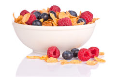 Cornflakes with fruits Stock Image