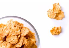 Cornflakes in glass bow Stock Images
