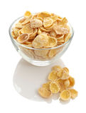 Cornflakes in a glass bowl Stock Images