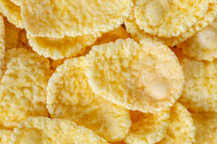 Cornflakes makro- zbliżenie Zdjęcie Stock