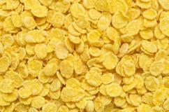 Cornflakes. Many cornflakes, yellow closeup. flakes food Stock Photography