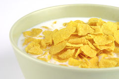 Cornflakes and milk Stock Photos