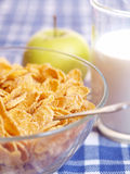Cornflakes and milk Stock Image