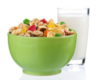 Cornflakes and milk Royalty Free Stock Photography