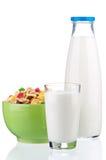 Cornflakes and milk Stock Photo
