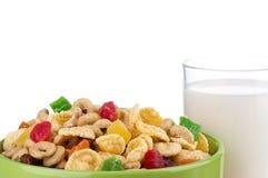 Cornflakes and milk Stock Image