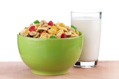 Cornflakes and milk Stock Photos