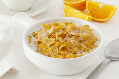 Cornflakes with Milk Stock Image