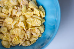 Cornflakes. Milk, breakfast out of the bowl Royalty Free Stock Images