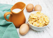 Cornflakes with milk Royalty Free Stock Photos