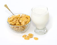 Cornflakes with milk Stock Photography