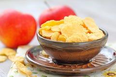 Cornflakes och äpplen Royaltyfri Fotografi