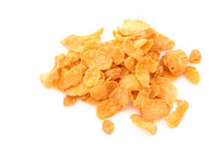 Cornflakes pile on white Stock Photo