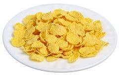 cornflakes plate white Fotografering för Bildbyråer