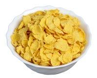 cornflakes plate white Arkivfoto
