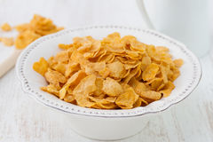 Cornflakes in plate Royalty Free Stock Image