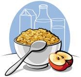 Cornflakes savoureux Photo libre de droits
