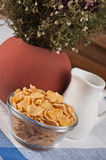Cornflakes on the table Royalty Free Stock Images