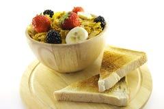 Cornflakes and Toast Stock Image