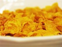 Cornflakes voor ontbijt Stock Foto