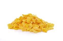 Cornflakes on white background Royalty Free Stock Images