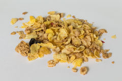 Cornflakes. On white background (cereal Stock Photo