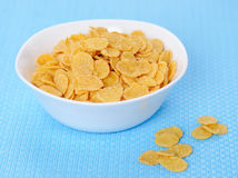 Cornflakes in a white bowl Royalty Free Stock Photo