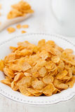 Cornflakes in white plate Stock Images
