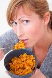 Cornflakes woman Stock Photos